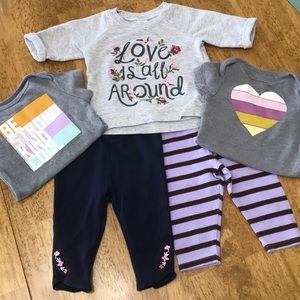Adorable Baby Girl 3-6 month bundle 5 piece!